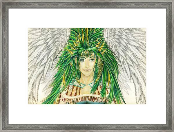 King Crai'riain Portrait Framed Print