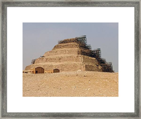 King Djoser The Great Of Saqqara Framed Print