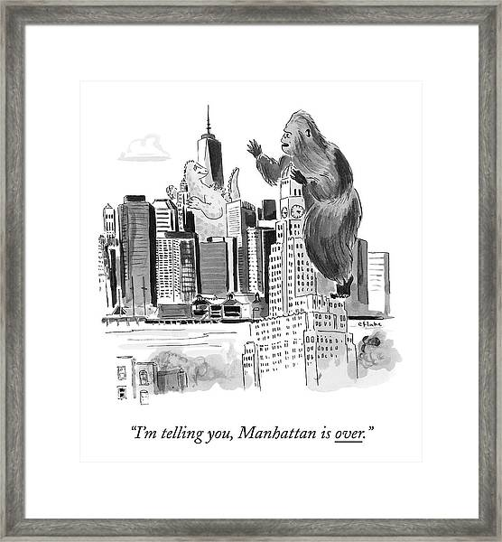 King Kong, Atop The Williamsburgh Savings Bank Framed Print