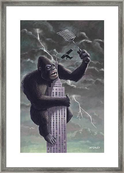 King Kong Plane Swatter Framed Print