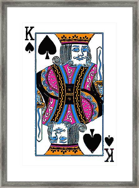 King Of Spades - V3 Framed Print