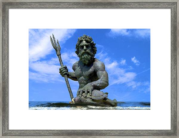 King Triton Framed Print
