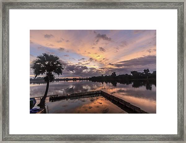 Kings Pool At Angkor Wat Framed Print