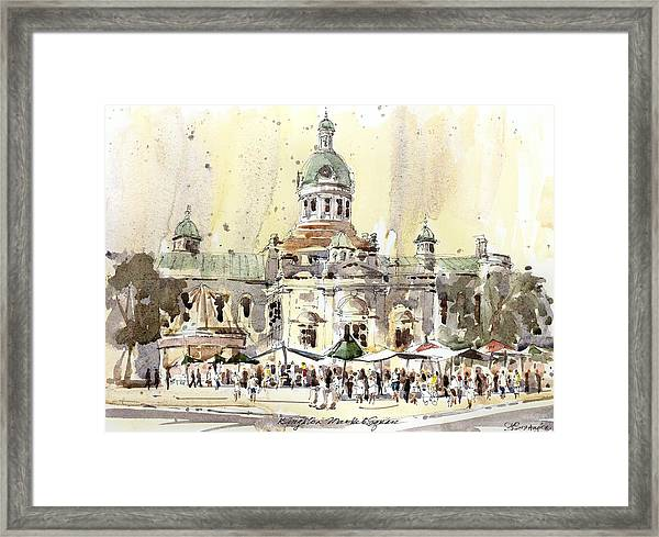 Kingston Market Square Framed Print