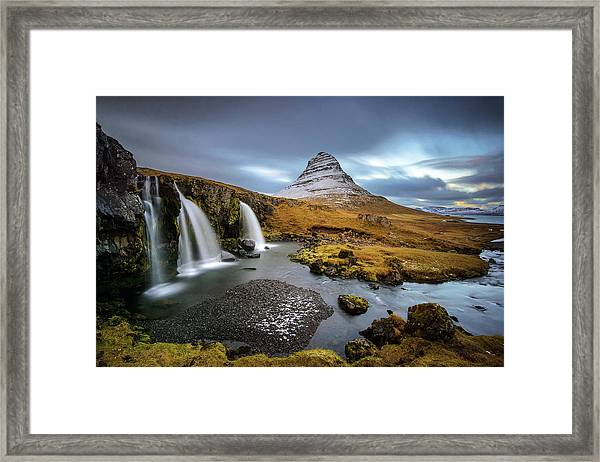 Kirkjufell With Waterfalls Framed Print