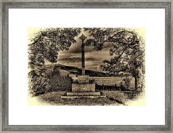 Kirknewton War Memorial Northumberland Framed Print