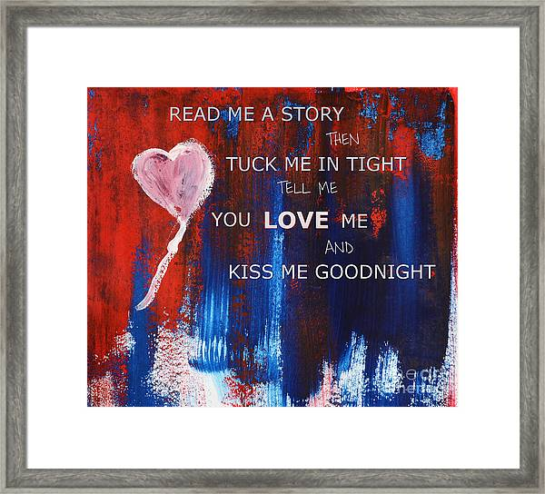 Kiss Me Goodnight Framed Print