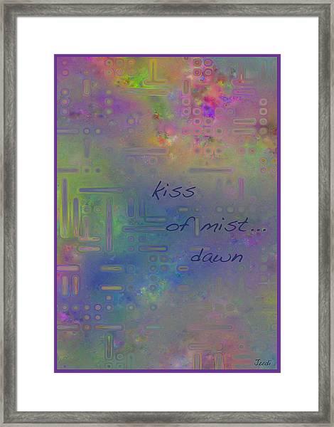 Kiss Of Mist Haiga Framed Print