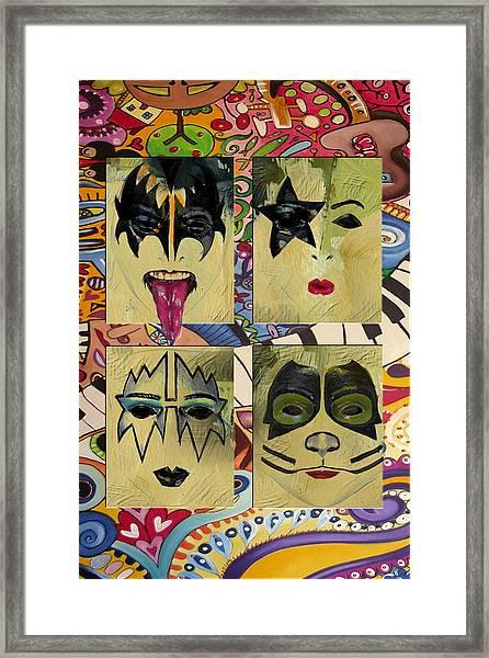 Kiss The Band Framed Print