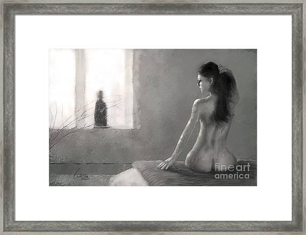 Kissed - Two-color Framed Print