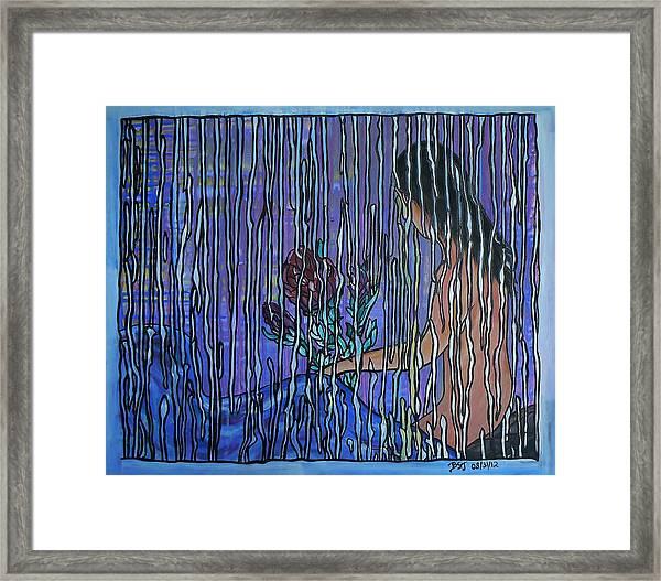 Kissing Rain Framed Print