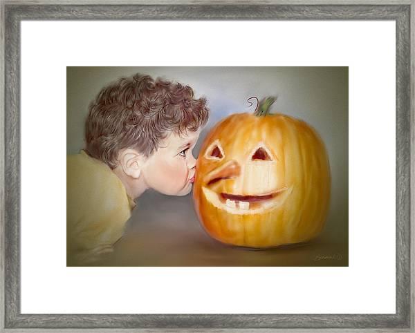 Kissy Face2 Framed Print
