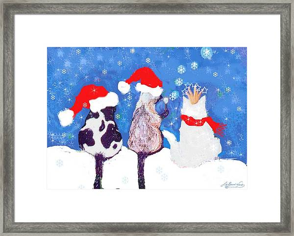 Kitty Christmas Framed Print