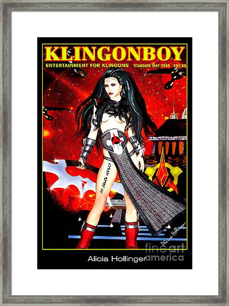 Klingonboy Magazine  Framed Print