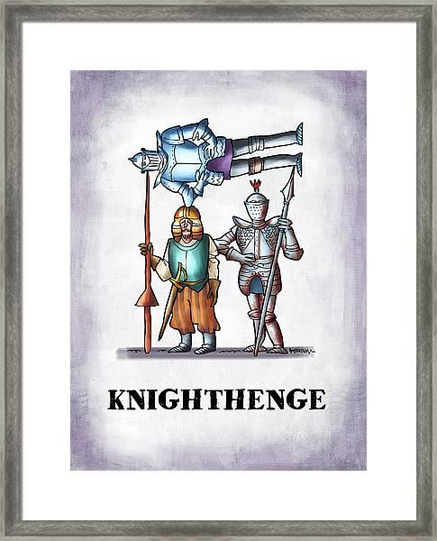 Knighthenge Framed Print