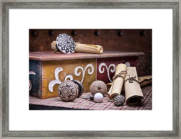 Knobs And Such Still Life Framed Print