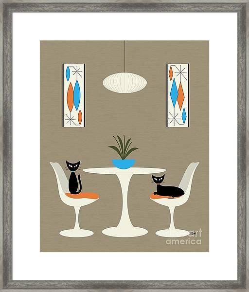 Knoll Table Framed Print