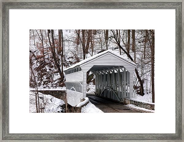 Knox Covered Bridge Framed Print