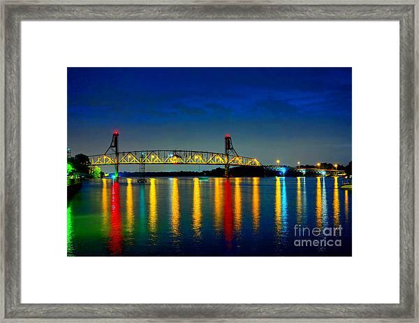 Kodachrome Bridge Framed Print