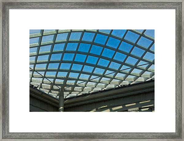 Kogod Courtyard Ceiling #3 Framed Print