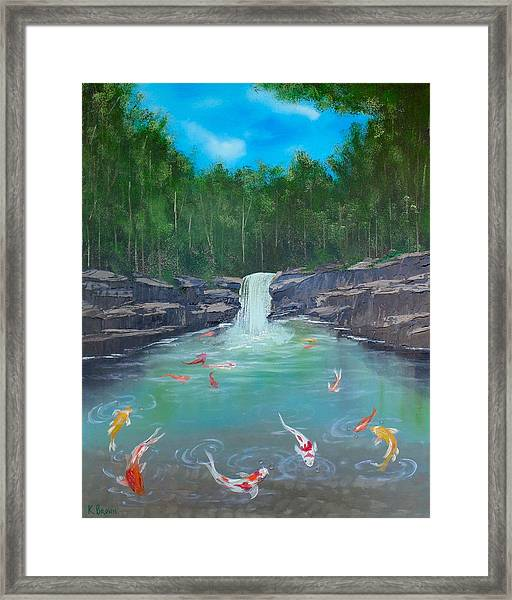 Koi Paradise Framed Print