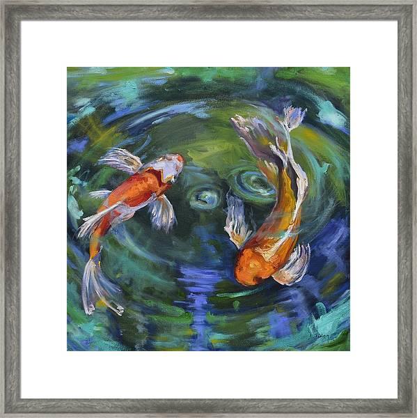 Koi Swirl Framed Print