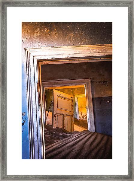 Kolmanskop - Blue Room Framed Print