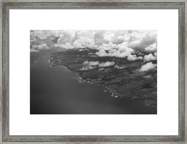 Kona And Clouds Framed Print