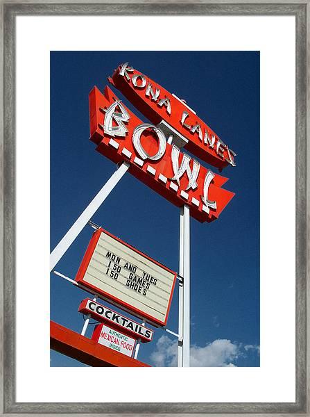 Kona Lanes Framed Print