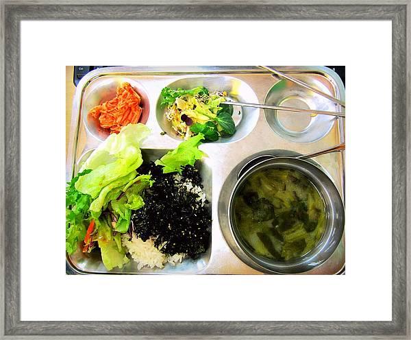 Korean School Lunch Framed Print