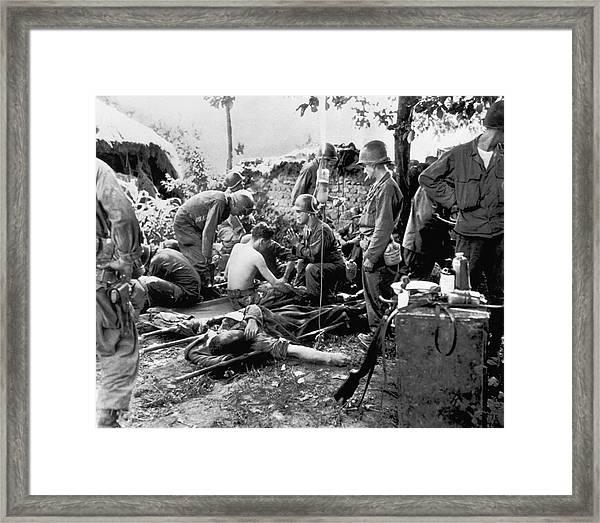 Korean War Wounded Framed Print