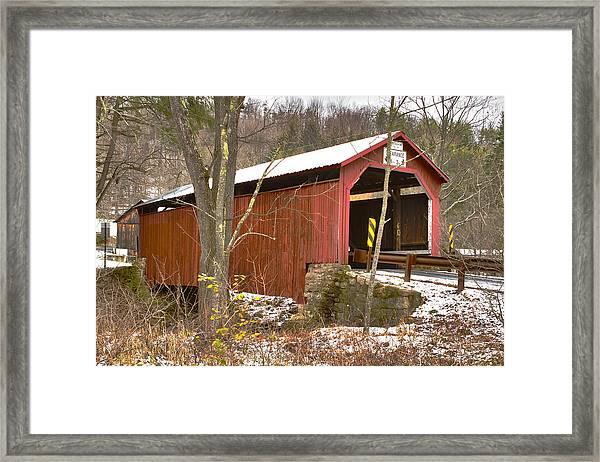 Krickbaum Bridge  Framed Print