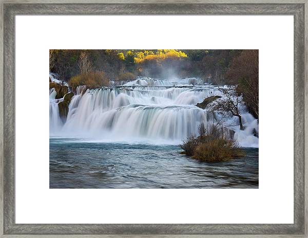 Krka Waterfalls Framed Print