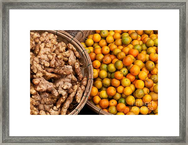 Kumquats And Ginger Framed Print