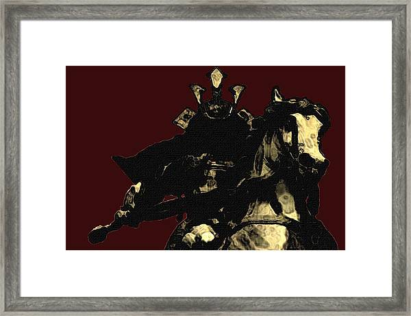 Kusunoki Masahige In Battle Framed Print