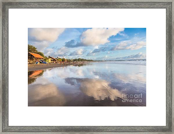 Kuta Beach In Seminyak Framed Print