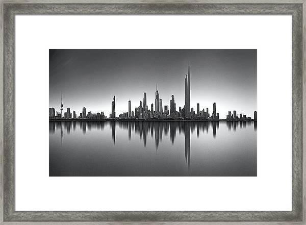 Kuwait Skyline Framed Print