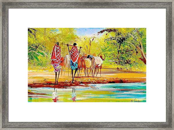 L 98 Framed Print