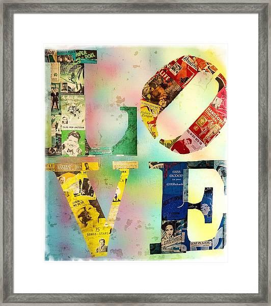 L O V E Framed Print