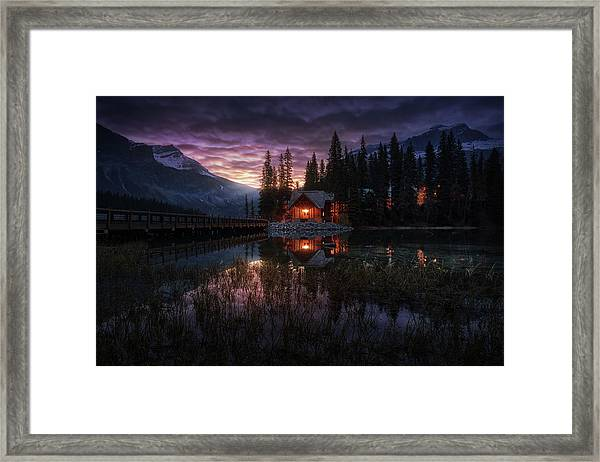 La Casita Framed Print by Juan Pablo De