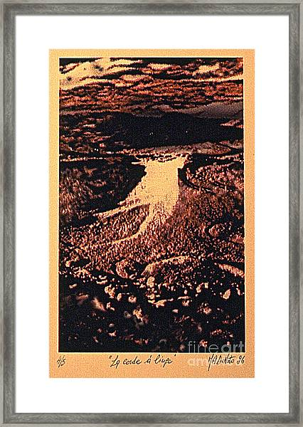 La Corde A Linge Framed Print