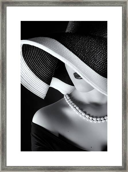La Femme Au Chapeau Framed Print