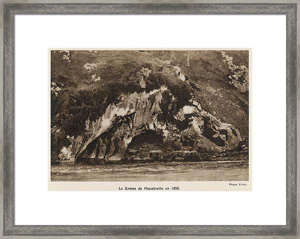 La Grotte De Massabieille, Where Framed Print