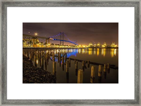 L.a Harbor Framed Print