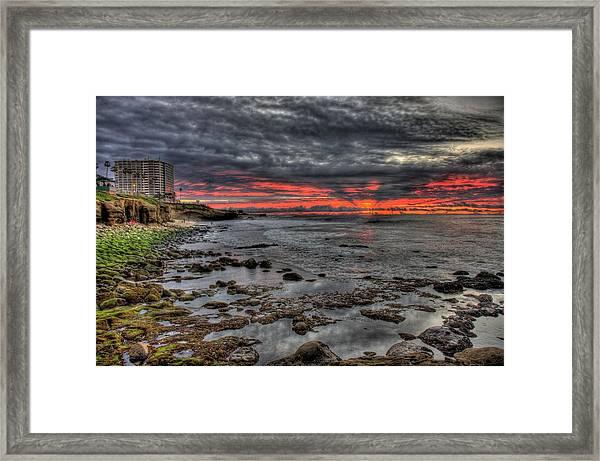 La Jolla Cove Sunset Framed Print