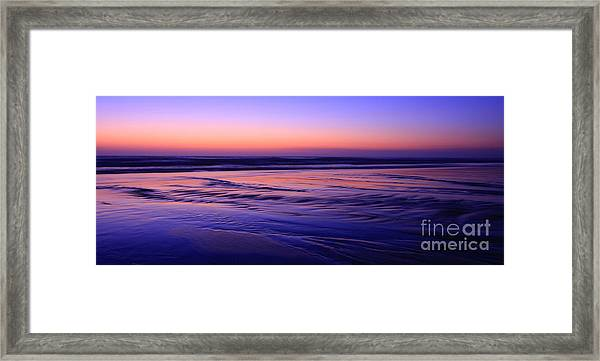 La Jolla Shores Twilight Framed Print