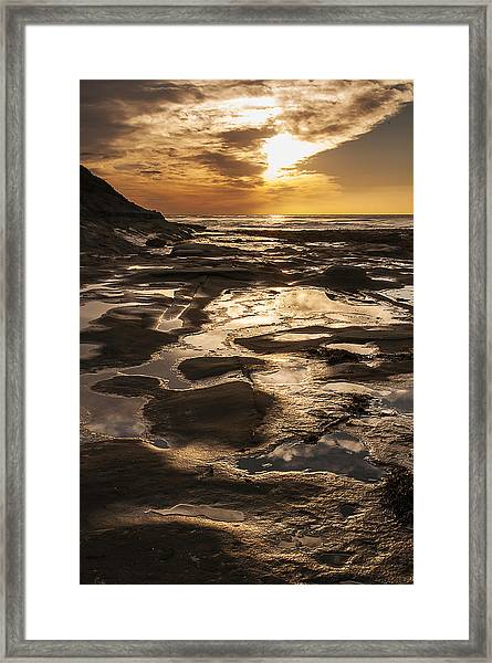 La Jolla Sunset 3 Framed Print