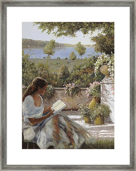 La Lettura All'ombra Framed Print
