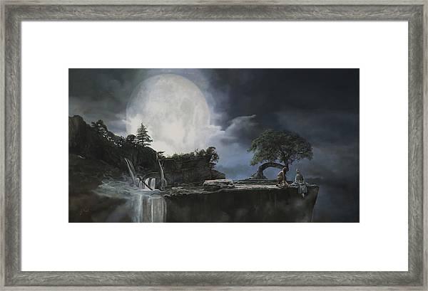 La Luna Bianca Framed Print