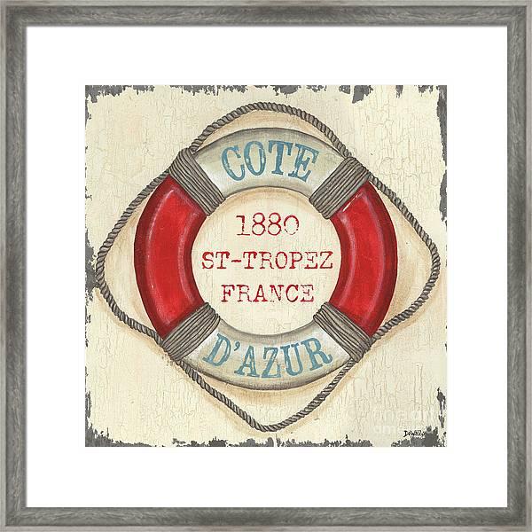 La Mer Cote D'azur Framed Print